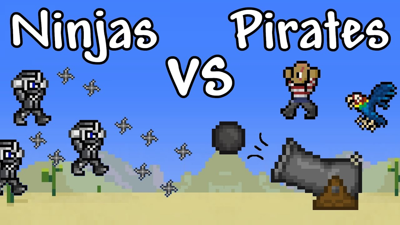 pirates vrs ninjas Shoot bombs as you try to hit treasure and eliminate the pirates or ninjas in each level be careful not to destroy your ship.
