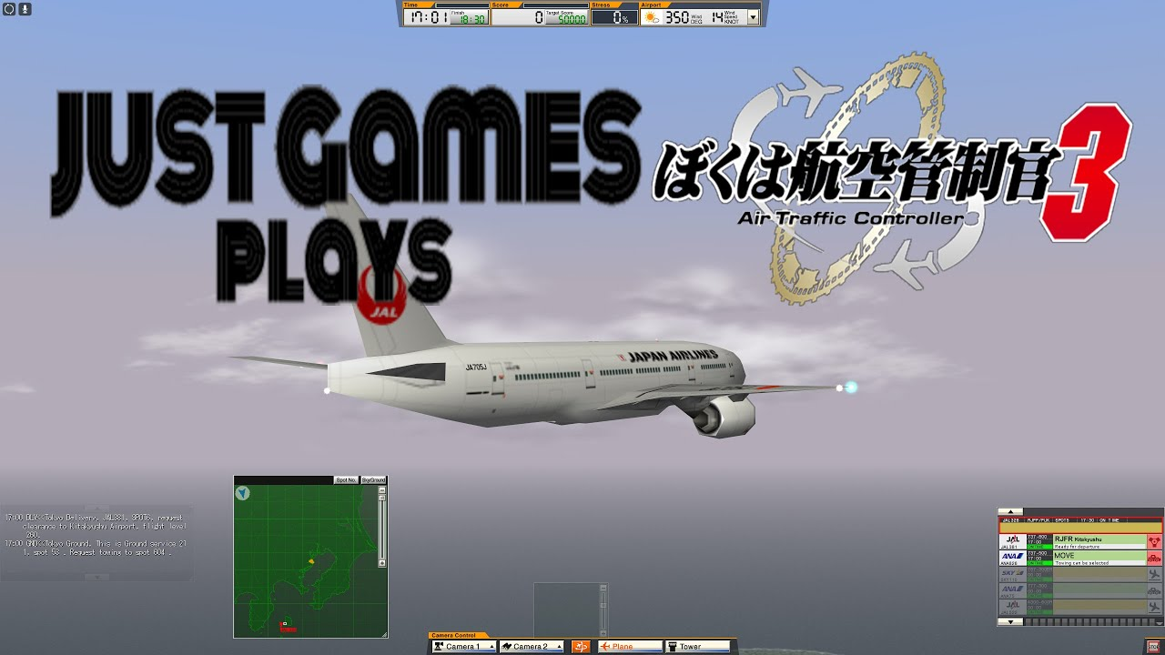 Just Games Plays Air Traffic Controller 3 - RJTT Stage 4