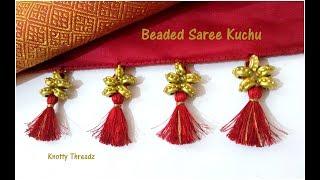Saree Kuchu | Saree Tassels | Making Of Traditional Beaded Saree Kuchu Design| Www.knottythreadz.com