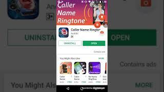 Call name ringtone.. bast app. -