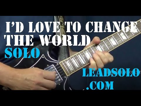 Guitar Solo close-up view - Alvin Lee - I'd Love To Change The World