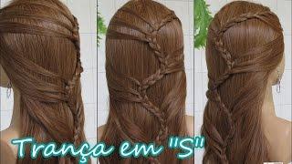Trança em S cabelo solto (Ondas do Mar, ocean waves braid) - Telma tranças