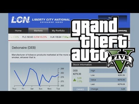 GTA V - How To Play the Stock Market and Make BIG MONEY in Grand Theft Auto V (GTA 5)