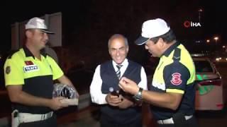 Trafik Polisinden Şalgamlı Kış Denetimi
