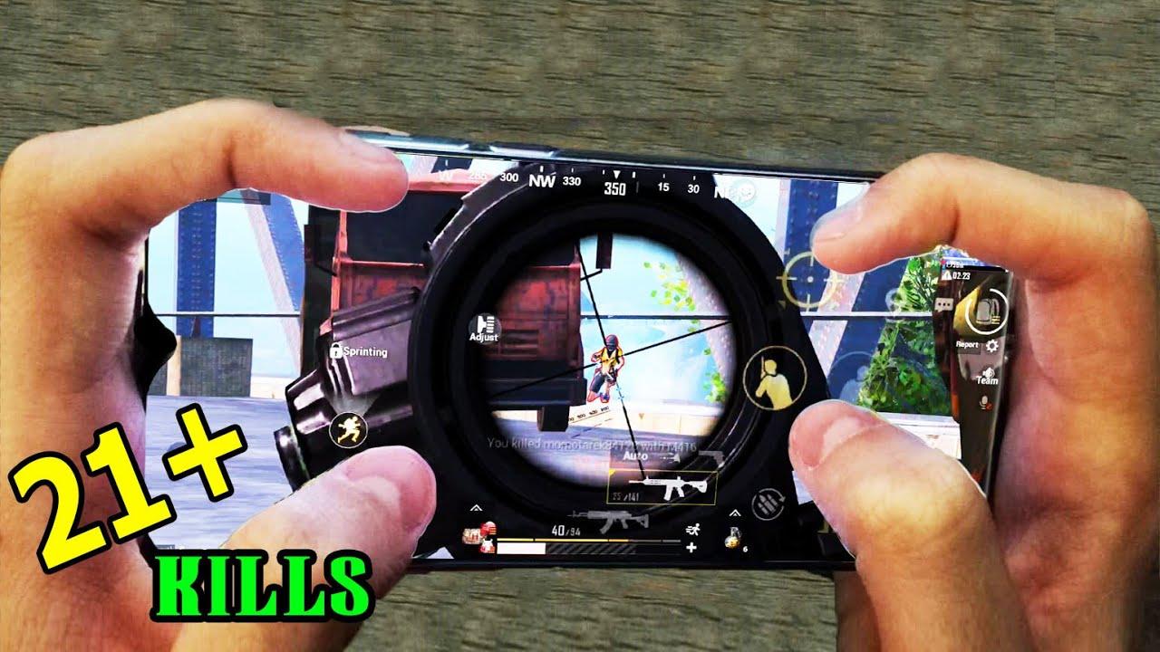Redmi Note 8 Pro PUBG | HANDCAM | 4 Finger + Full Gyro | Solo vs Squad !!! #79