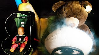 Drivers Airbag Deployed on Teddy & Baby - in Ultra Slow Motion  [ 4K ] YouTube Videos