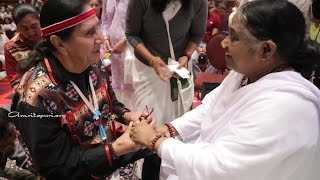 Tewa Indian dances and International Yoga day with Amma in Santa Fe