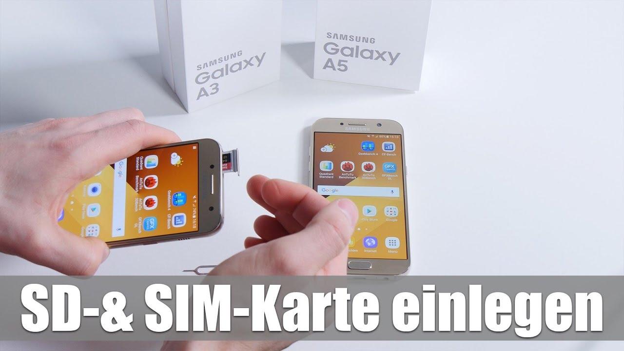 Samsung A5 Sd Karte Einlegen.Samsung Galaxy A3 A5 Microsd Speicherkarte Sim Karte Einlegen