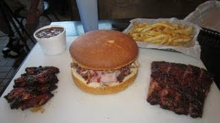 Bbq Sandwich Challenge 6.5lb Huge Barbecue Platter - Food Challenge