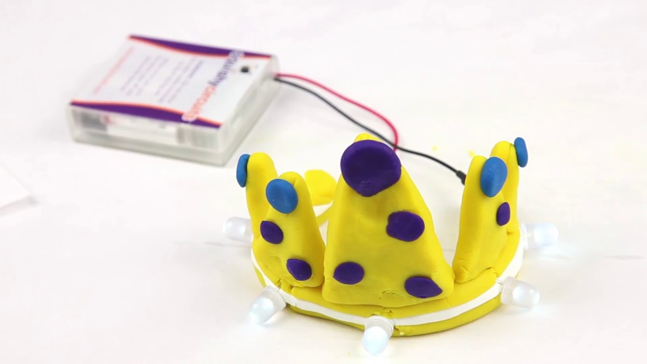 Squishy Circuits Crown Project Youtube Making Conductive Dough