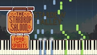 The Stardrop Saloon - Stardew Valley [Piano Tutorial] (Synthesia)