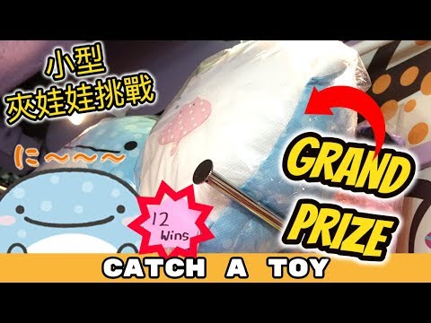 12 Claw Machine Wins for the Grand Prize! | Catch A Toy #64 | 夾娃娃挑戰 #64