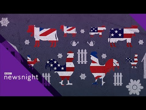 Will a UK-US trade deal lower food standards in the UK? - BBC Newsnight