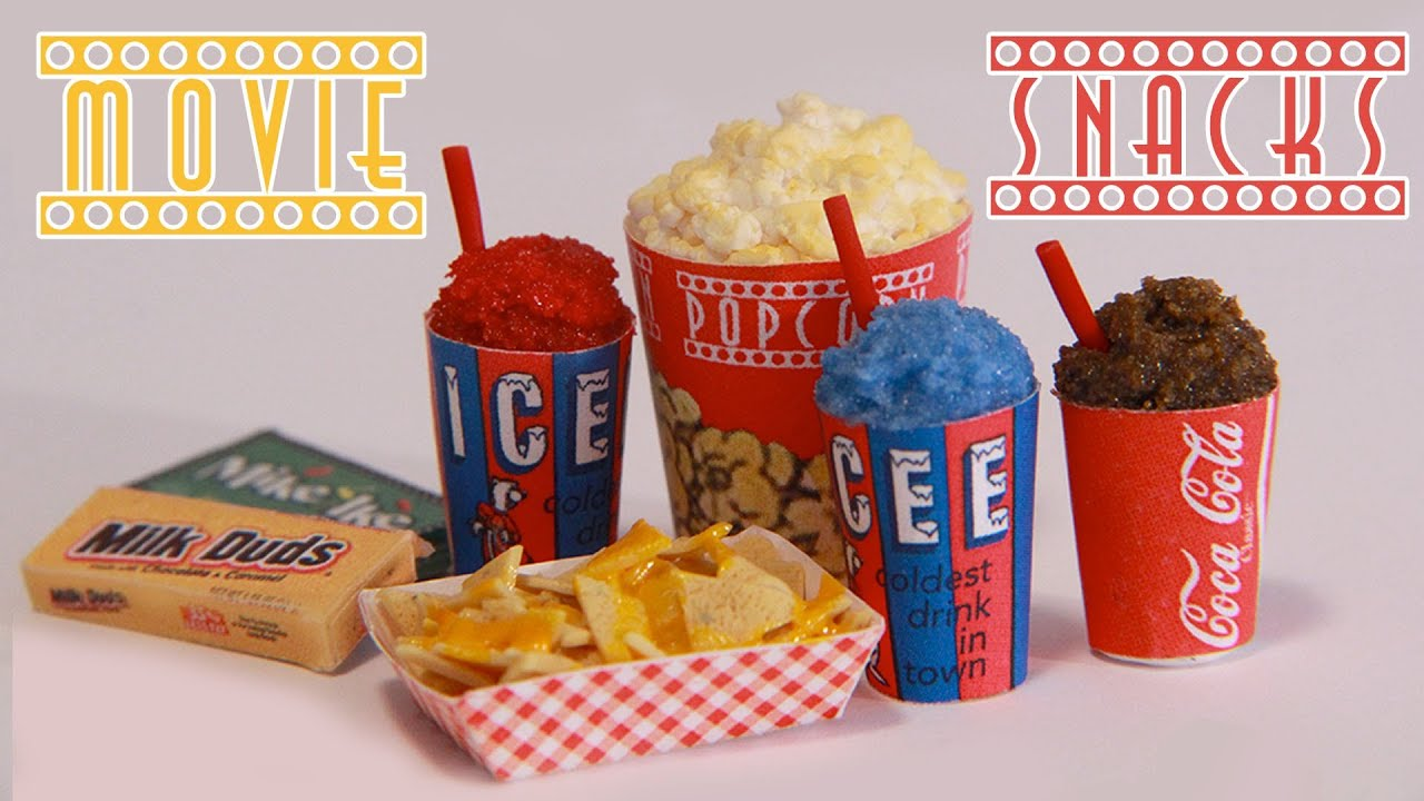 Movie theater snacks how to make miniature popcorn icee for American cuisine film