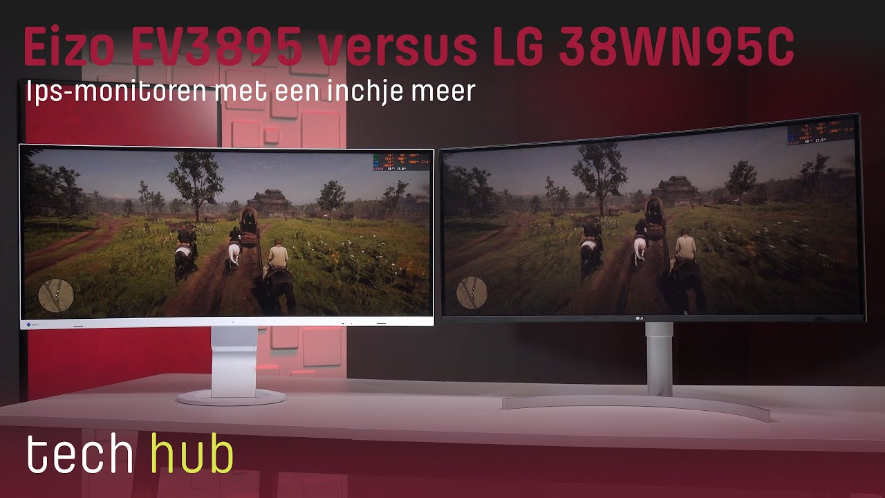 Eizo Flexscan EV3895 versus LG 38WN95C - Ips-monitoren met een inchje meer - Tweakers Tech Hub