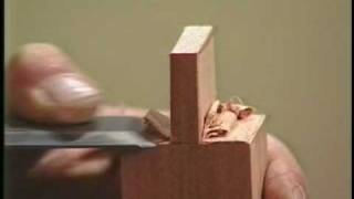 Woodworking Cutting Tenons with the 1 1/2 chisel