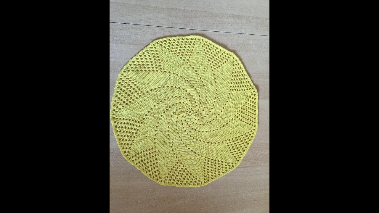 tuto set de table soleil au crochet sp cial gaucher youtube. Black Bedroom Furniture Sets. Home Design Ideas