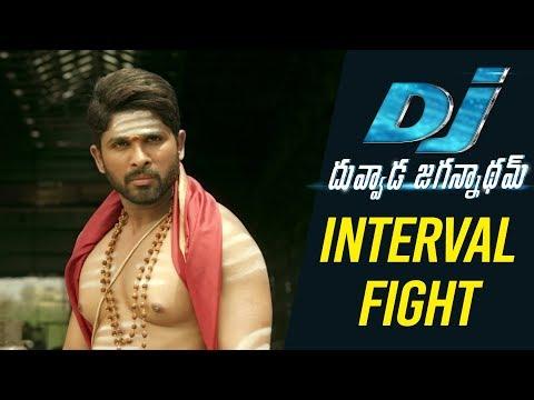 DJ Duvvada Jagannadham Scenes - Interval Fight Scene - Allu Arjun Fight Scenes
