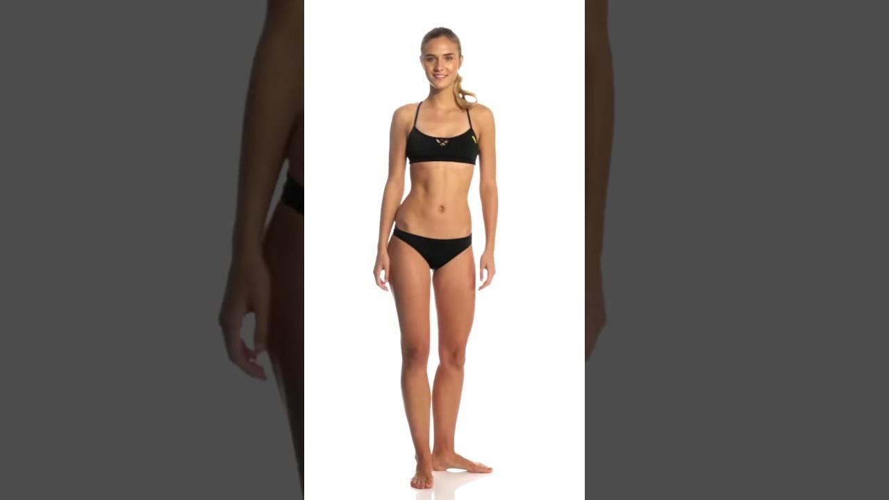 3181e529ff6e9 Arena Women's Rulebreaker Bandeau Be Bikini Top | SwimOutlet.com ...