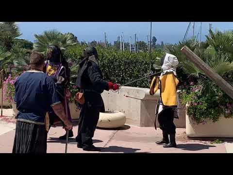 Kingdom Of Terre Neuve Sword Fighting At San Diego Comic Con 2019
