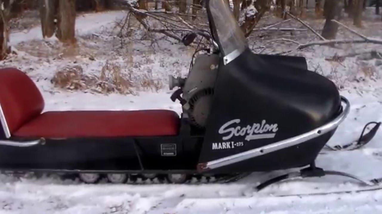 1968 Scorpion Snowmobile Youtube