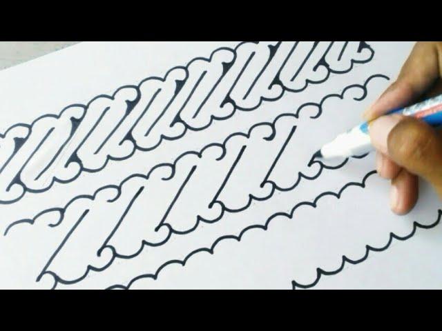 Trik Menggambar Batik Parang Sederhana Youtube