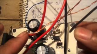 Mini fonte  3V a 40V 3A com transistores.