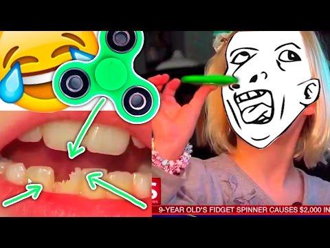 Los Mejores FAILS con Fidget Spinner 😂 (para morirse de risa) 😂