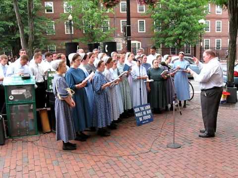 Mennonite Choir in Harvard Square
