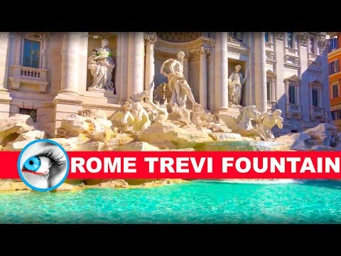 Rome Trevi Fountain 4K Travel Must See & Do Video