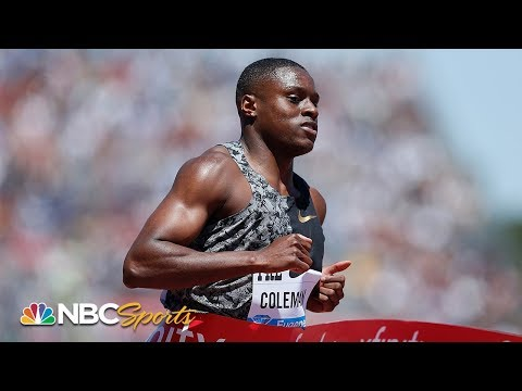 Christian Coleman triumphs with fastest men's 100m time of 2019 at Prefontaine Classic | NBC Sports