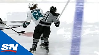 Erik Karlsson Lays Into Austin Wagner With A Dangerous Hit