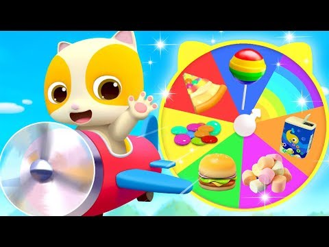 Yummy Food on Colorful Wheel  Colors Song Learn Colors  Nursery Rhymes  Kids Songs  BabyBus
