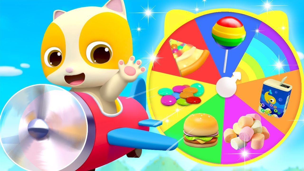 Yummy Food on Colorful Wheel   Colors Song, Learn Colors   Nursery Rhymes   Kids Songs   BabyBus
