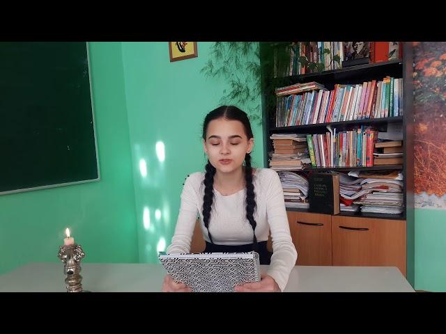 Изображение предпросмотра прочтения – МаринаБекасова читает произведение «Она сидела наполу…» Ф.И.Тютчева