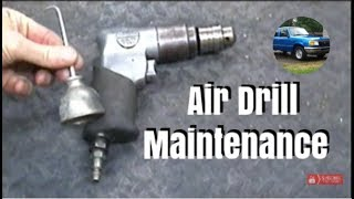 Air Drill Maintenance Including Planetary Gear System Lubrication