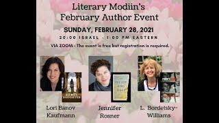 Literary Modiin Feb Author Event with Jennifer Rosner, Lori Banov Kaufmann, & L. Bordetsky-Williams