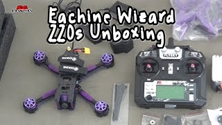 Unboxing and First Look: Eachine Wizard X220S FPV Racer RC Drone Omnibus F4