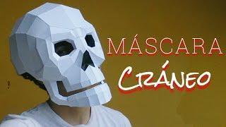 Cómo hacer una Máscara de Cráneo con Papel opalina o cartulina | Momuscraft