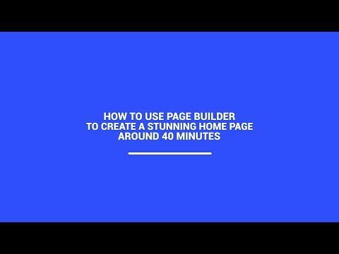 Sample - How to Use Page Builder to Create a Home Page