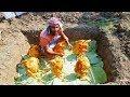 Build Underground Oven & Cooking Grilled Chicken - Unique Food Prepared By Village Boys
