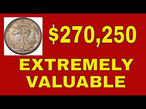 TOP 5  EXTREMELY VALUABLE WALKING LIBERTY HALF DOLLARS! RARE HALF DOLLARS TO LOOK FOR!!