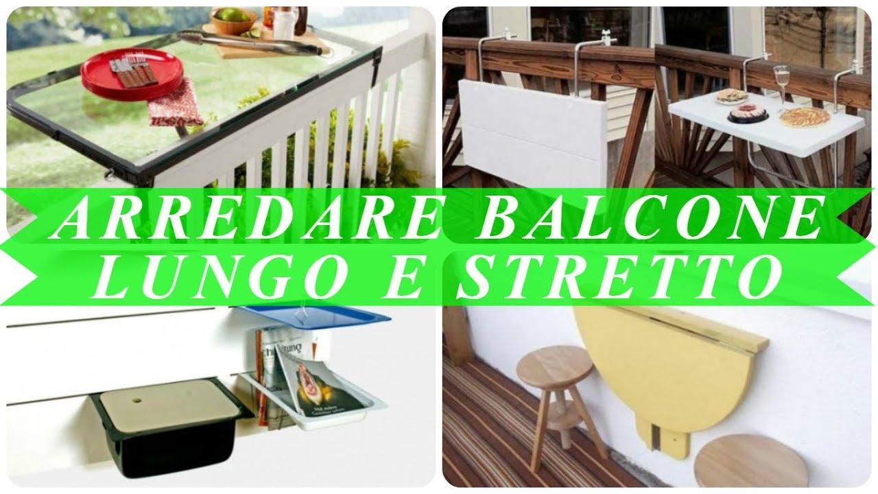 Arredare balcone stretto e lungo youtube for Arredare balcone