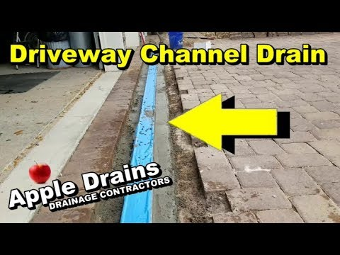 Channel Drain in Paver Driveway, Sump Pump, Patio Drain, Fre