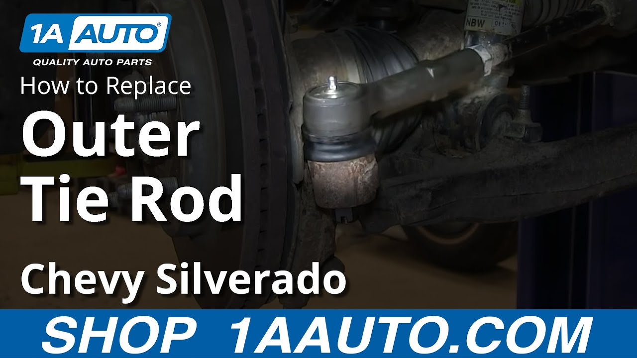 How To Install Replace Outer Tie Rod 2007-13 Chevy ...