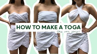 How to make a TΟGA PARTY set! - 3 tops and wrap skirt tutorial! | ItsRebeccaMarie
