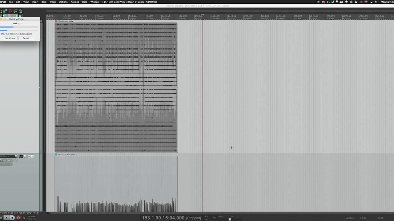 Split Multi Channel Wav File