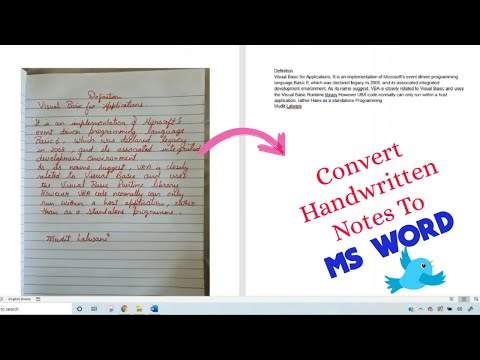 Convert Handwritten Notes (Any language)/ Photos To MS Word
