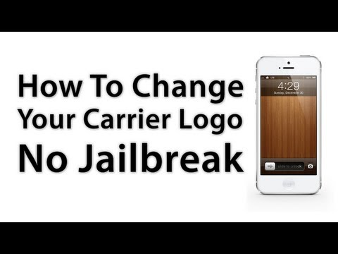 How to change carrier logo on iphone xr