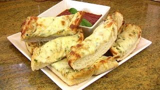 Cheesy Double Garlic Bread Recipe & How To Make Garlic & Herb Compound Butter |cooking With Carolyn